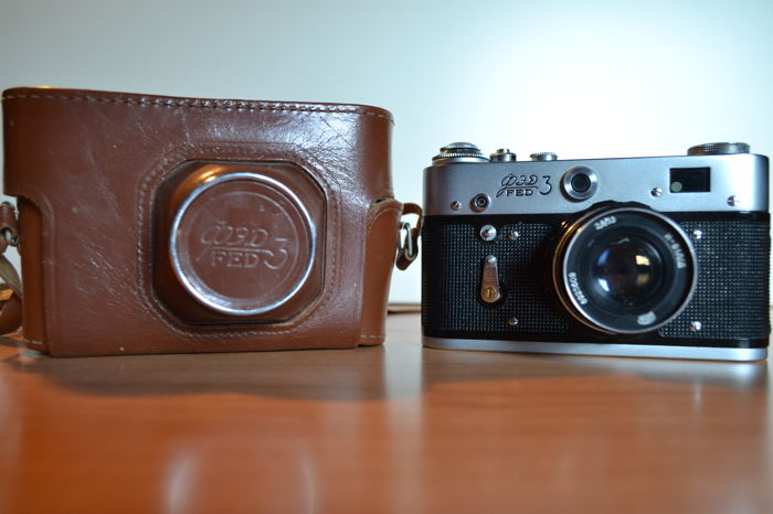 Fed3 Original USSR camera >with Leather case