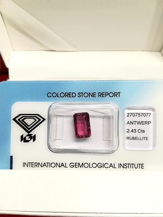 Rubelite - Purplish Pink - 2.43 ct