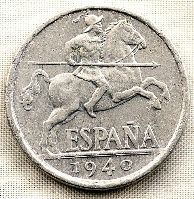 Spain - Spanish State - 10 cents - PLVS Variant with V - 1940 - Madrid