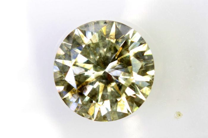 AIG Antwerp Sealed Diamant - 1.56  ct - Fancy Greenish Yellow , SI2