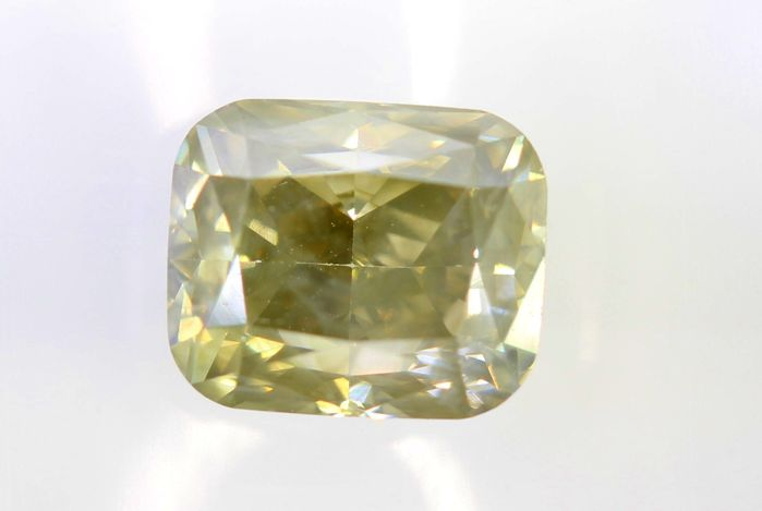 * NO RESERVE PRICE * -   AIG Antwerp Sealed Diamond - 1.25 ct - Fancy Light Brownish Yellow - SI2