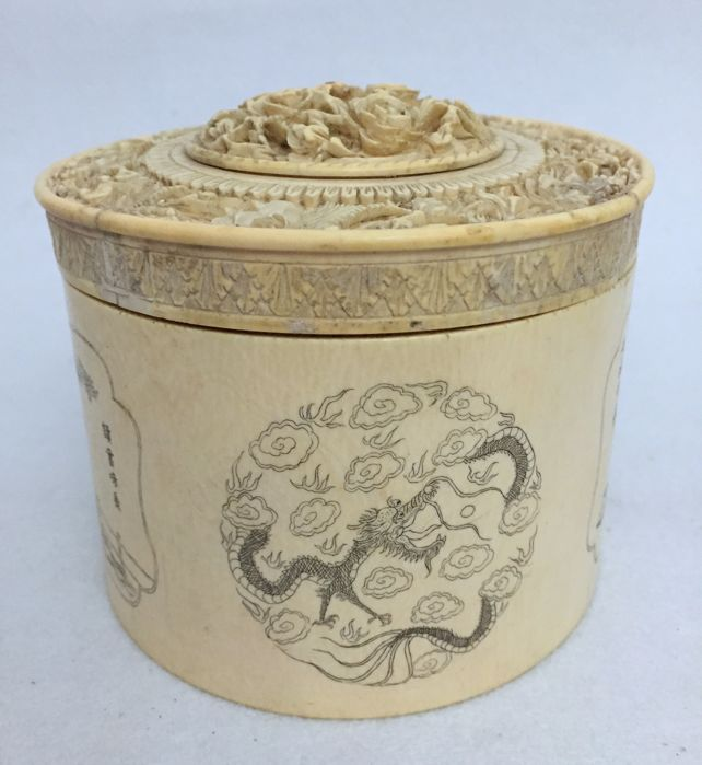 Ivory box, China, Qing Dynasty