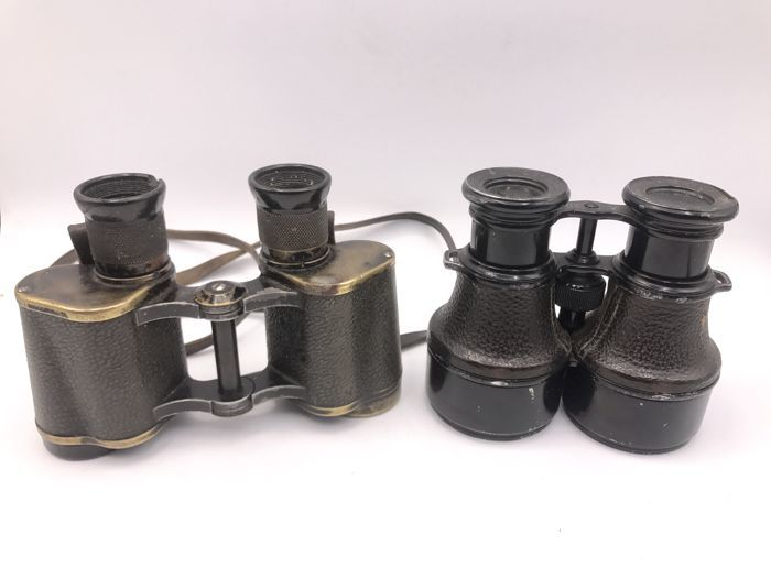 2 antique pairs of binoculars including Colmont Paris circa 1940