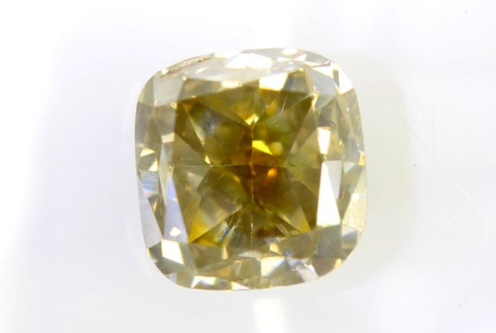 AIG Sealed Diamant - 1.52 ct - Fancy Light Brownish Yellow - SI2