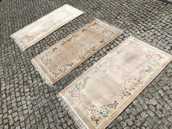 3 China Silk rug 150x72cm