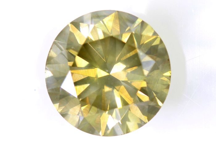 AIG Antwerp Sealed Diamond - 2.15 ct - Fancy Light Brownish Yellow - SI2 - Excellent Cut