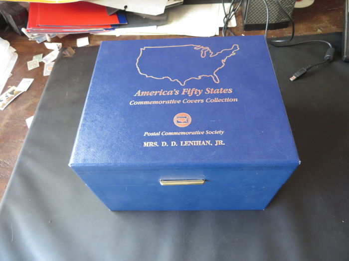 USA - Collection of commemorative covers collection in a box