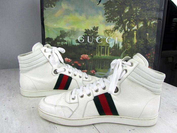 75d6c6d67f0 Gucci - Leather Hightop Trainers - Catawiki