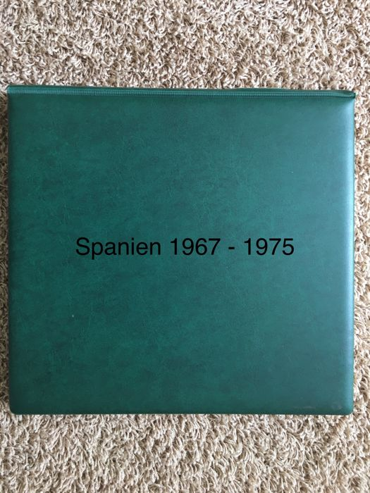 Spain 1967/1975 - Over-complete collection in the Lindner T-hingeless album
