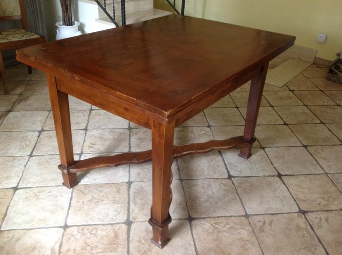 Extending table (1) - Walnoot - Eind 19e eeuw