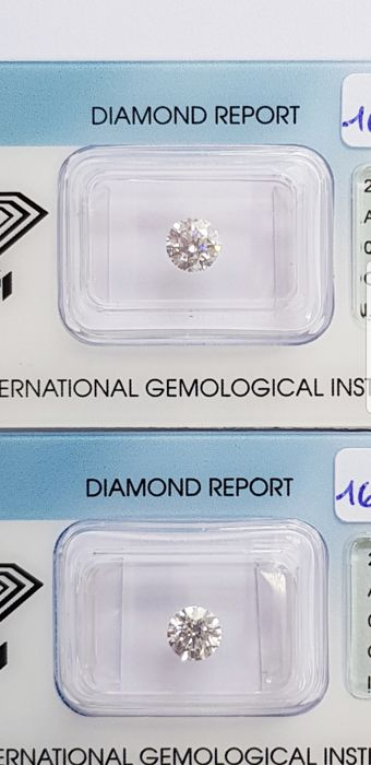 Pair of 1.41 ct brilliant cut diamonds G I.F