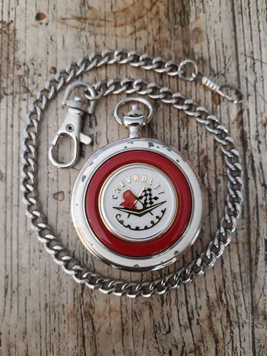 Chevrolet Corvette 1957 pocket watch with chain - very rare