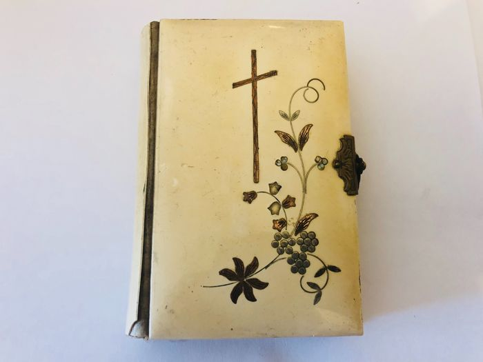 Antique prayer book with real horn inlay from 1893, from a Prague collection
