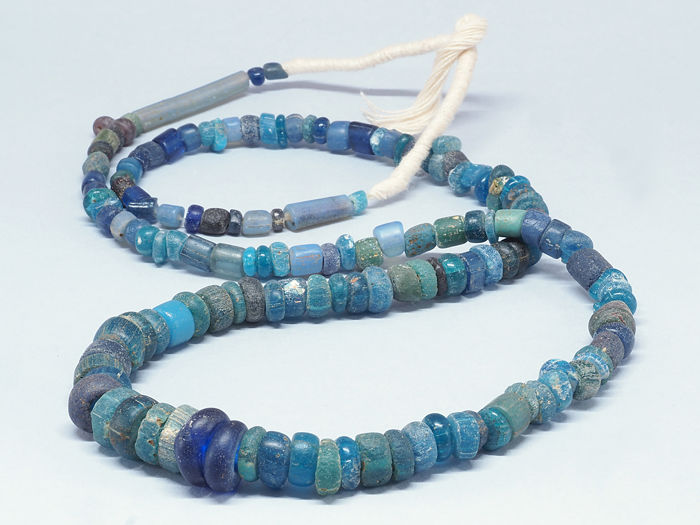 Ancient Nila glass beads strand