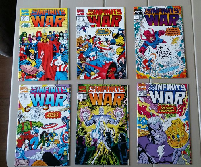 marvel the infinity war 1 to 6 complete avengers gauntlet