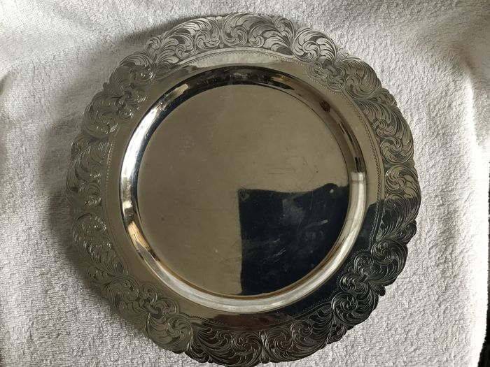 Silver tray, silver 900/1000 possibly Estonia