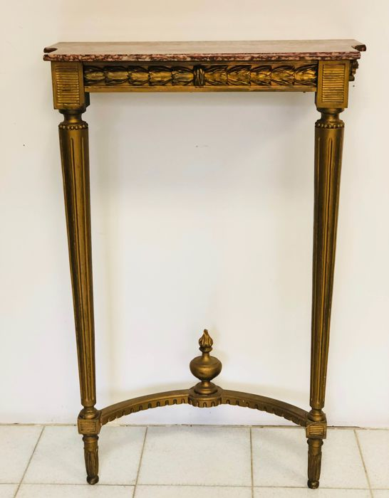 Carved and Gilt Console Table - 20th century