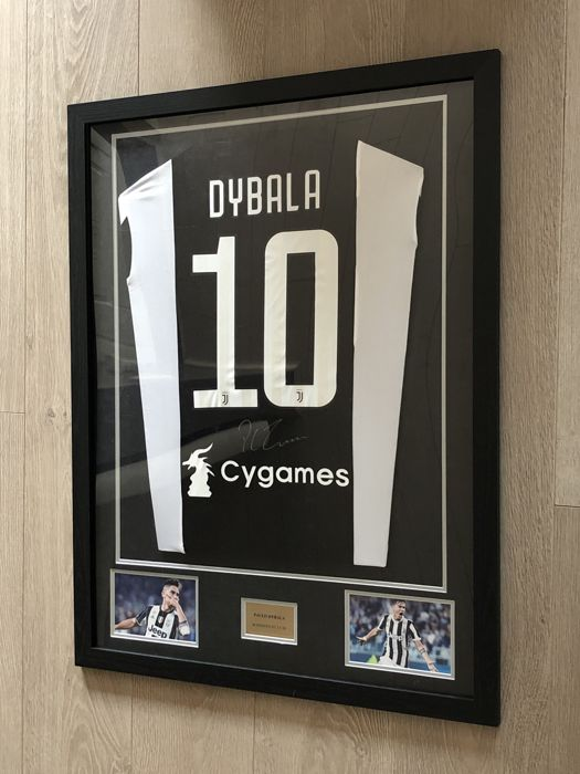 half off 3c9b0 11bf4 Paulo Dybala signed framed Juventus Fc home shirt 2017-2018 ...