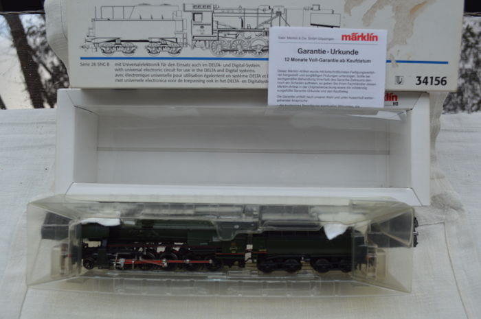 Märklin H0 - 34156 - Steam locomotive with tender - NMBS