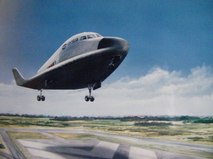 Three ESA photos of the HERMES space plane