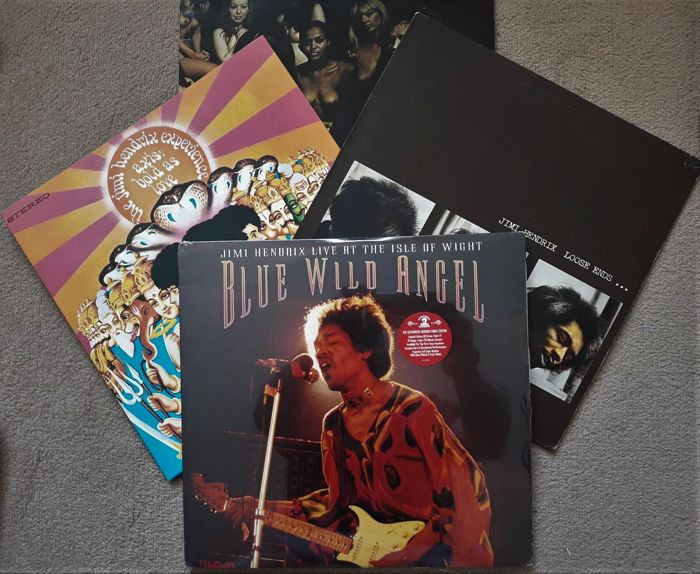 Jimi Hendrix Album Collection: Hendrix Live @ The Isle of White (Ltd. Edition 3 LPs) Electric Lady Land (Double LPs) -  Axis Bold as Love - Loose Ends, More