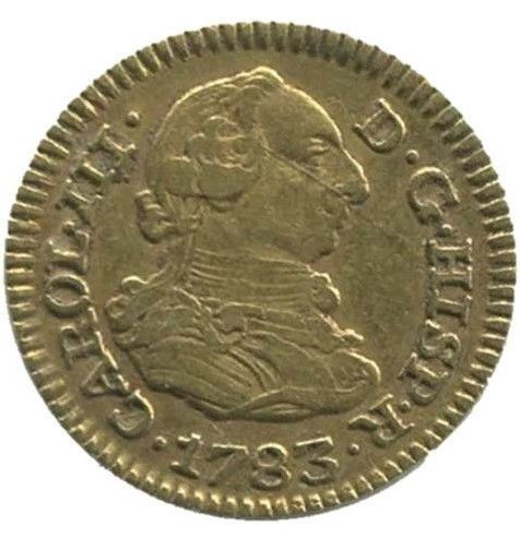 Spain - Carlos III, 1/2 Gold Escudo, Madrid, 1783. (Assayer JD)