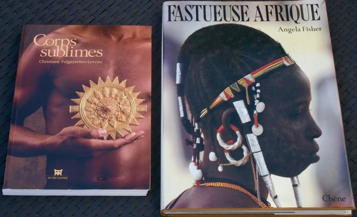 'Corps sublimes'  by Christine Falgayrettes - 1994 - First Edition in French & 'Fastueuse Afrique' by Angela Fisher - First Edition in French - 1985