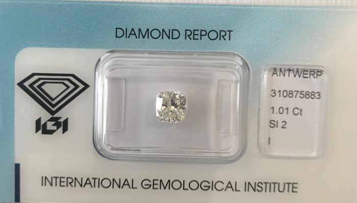 1.01 Cushion cut- I SI2  IGI
