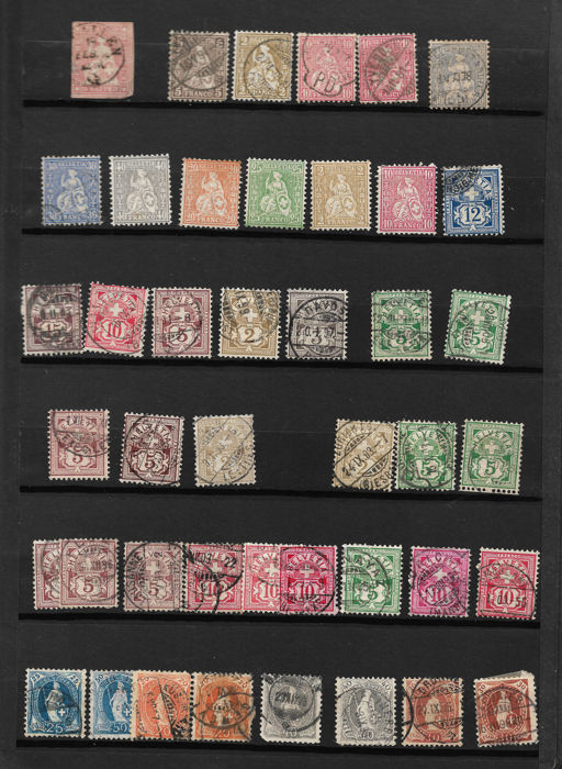 Switzerland 1854/1970 - Album of classic and modern stamps