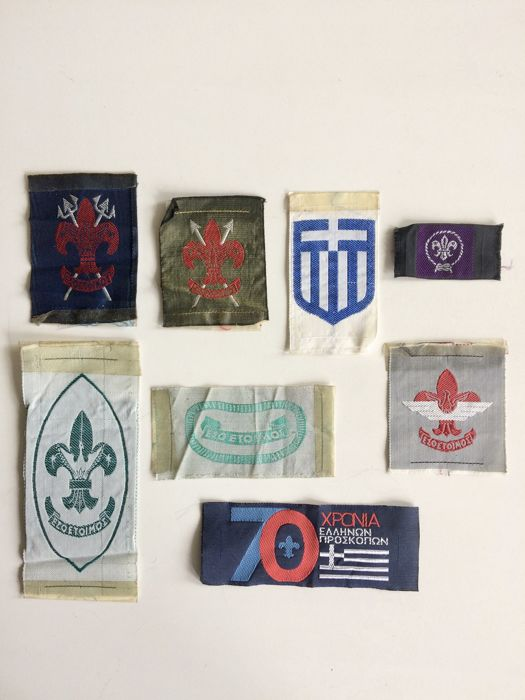 Collection of vintage Scout Association objects - Greece