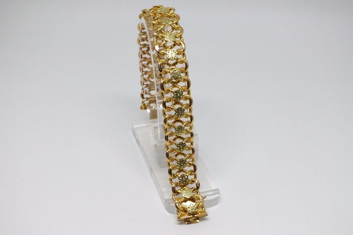 Two-tone Gold Bracelet - 1950s