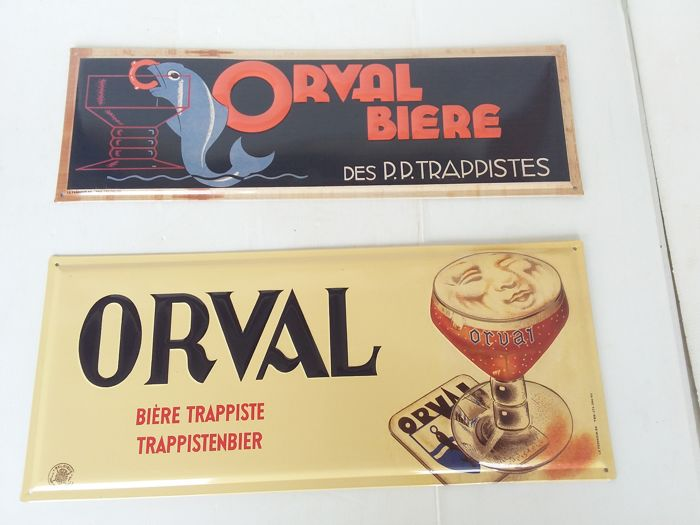 Tin advertising signs Orval 2003