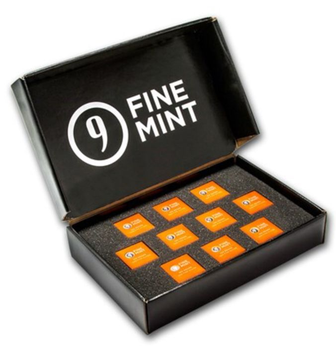 USA - 9Fine Mint - 10 x 100 g - 999,9 - Minted - Sealed (10 piece package)