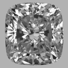 1.02 ct Cushion cut- D VS2 With Igi Certificate  - Low Reserve Price - Amazing-Diamond