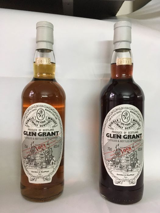 2 bottles - Glen Grant 1951 & 1958 - Over 50 years old