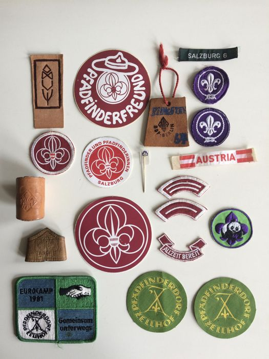 Collection of vintage Scout Association objects - Austria -Germany