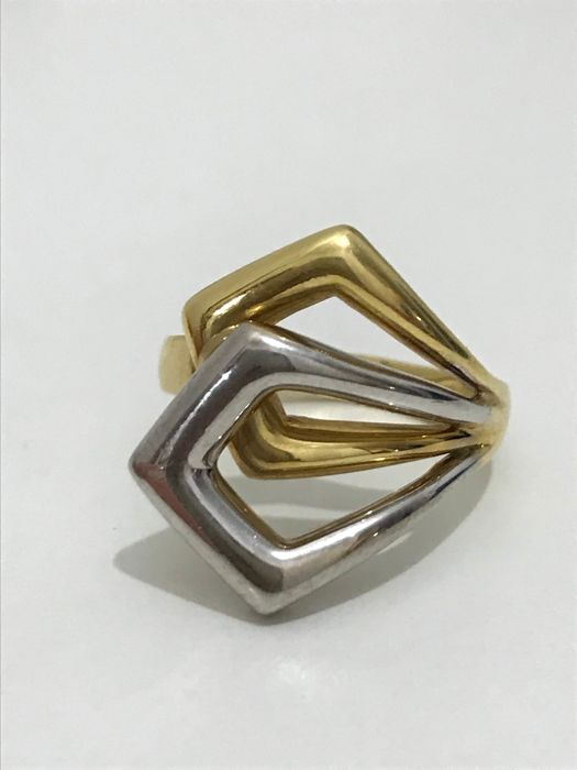 Gold ring (18 kt) - size 14