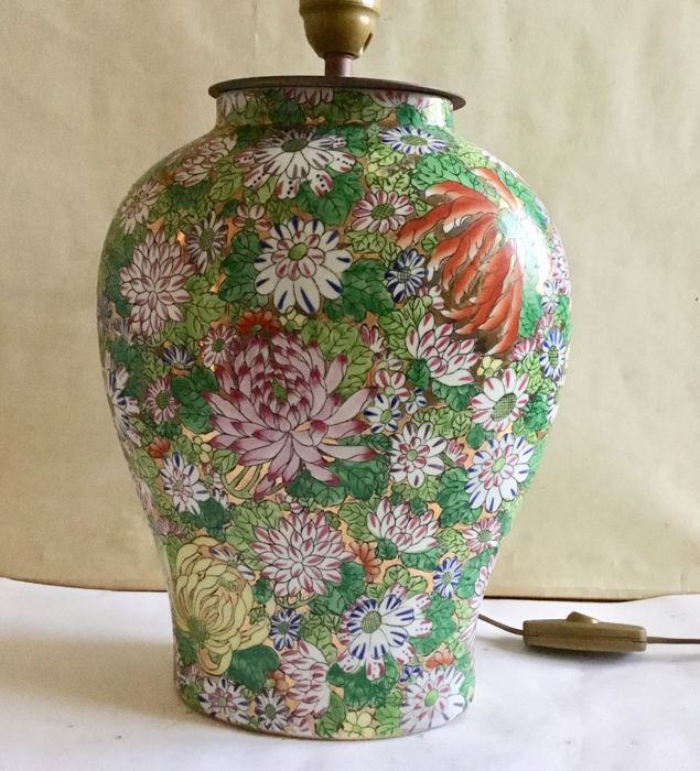 Unusual shape vase painted with Millefiori - China - second half 20th century
