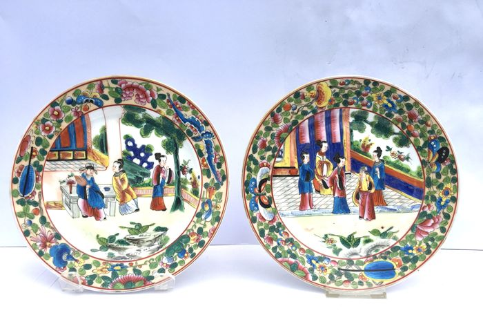 Samson - A pair porcelain plates to Chinese examples