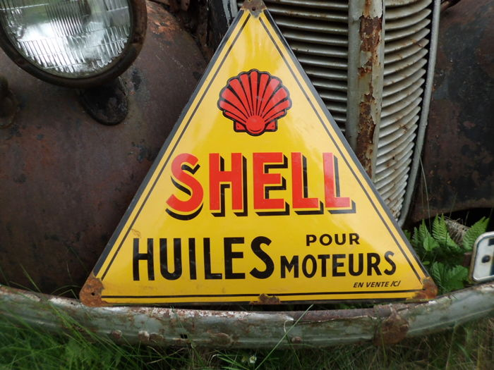Enamel sign - Shell, 58 x 58 cm
