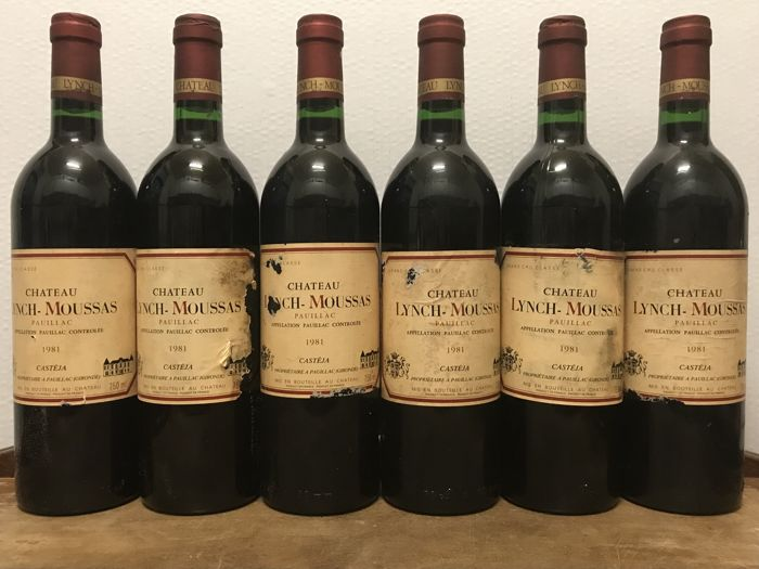 1981 Château Lynch Moussas, Pauillac Grand Cru Classé - Total of 6 Bottles
