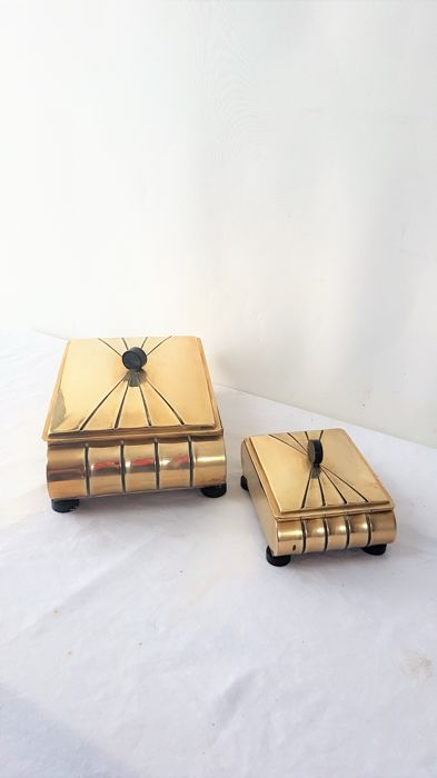 Producer unknown - Vintage brass jewellery boxes
