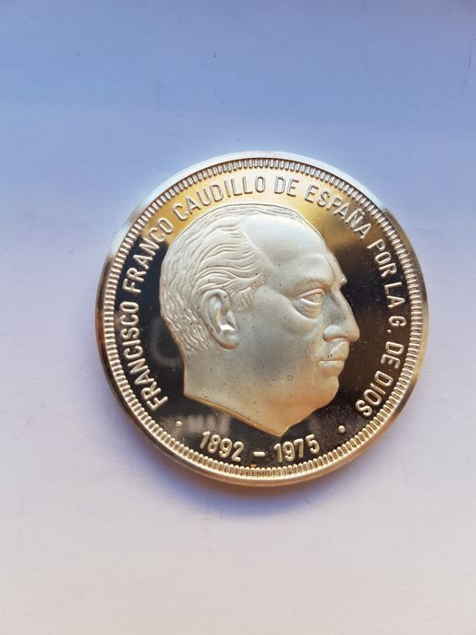 Spain - 1 onza FRANCISCO FRANCO - Silver