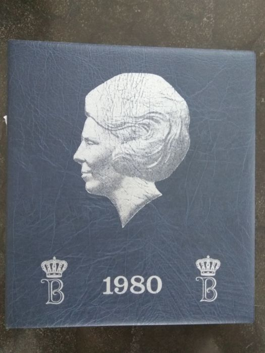 The Netherlands - Complete collection of coins Beatrix 5 Cents / 50 Guilders from 1980 through  2001 in special HB preprint album