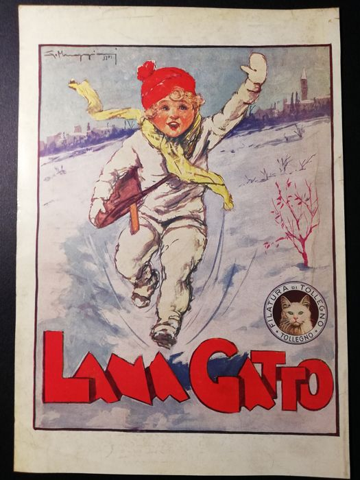 10 advertising graphics - 1940s/50s Lana Gatto and Lane Rossi