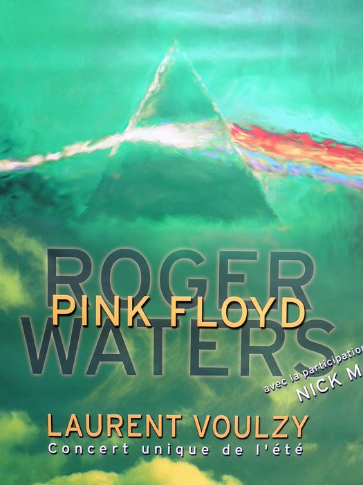 Extraordinary rare PINK FLOYD  Roger Waters Nick Mason psychedelic Concert Poster France