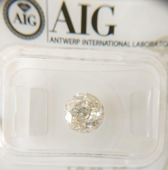 1.55 ct Round cut diamond H I1 *** No Reserve ***