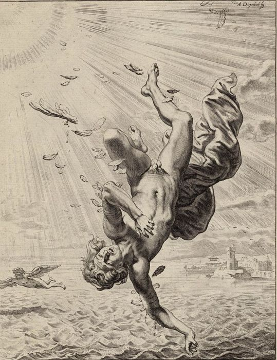 Abraham van Diepenbeek, after, 1733 - The fall of Icare (Icarus)