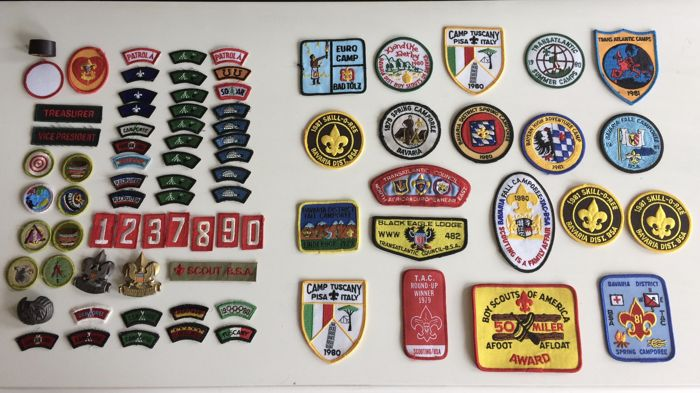 Collection of vintage Scout Association objects, USA, Boy Scouts of America 70 items