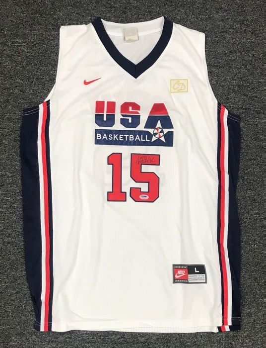 45122552096 Magic Johnson signed Team USA Olympic Nike Jersey RARE Dream Team HOF JSA  COA Autographed by